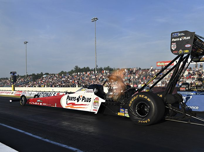 Clay Millican is the top qualifier in the Top Fuel class this weekend at the New England Nationals. (NHRA Photo)