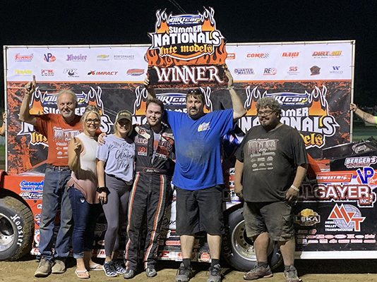 Bobby Pierce in victory lane at Fayette County Speedway. (DIRTcar photo)
