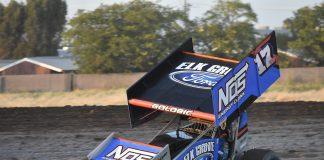 Shane Golobic at the Stockton Dirt Track. (Joe Shivak photo)