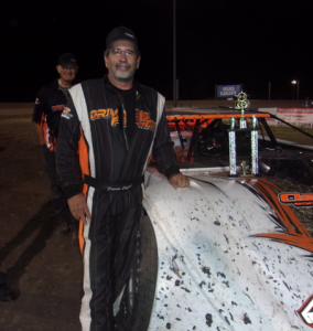 Darren Coffell won Saturday's late model feature at Southern Oregon Speedway.