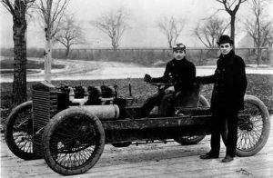 Barney Oldfield was the first person to drive a mile a minute on a closed course. He did it at the Indiana State Fairgrounds.