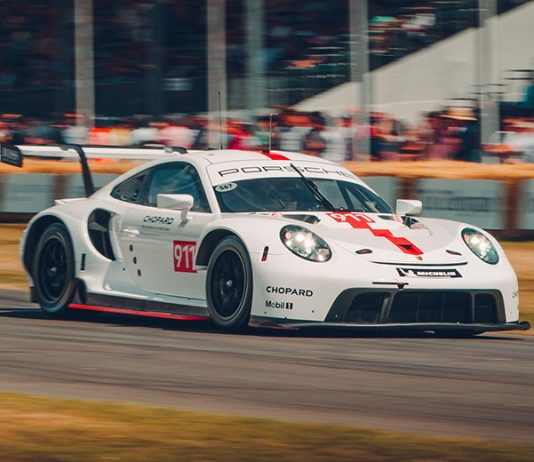Porsche debuted a new 911 RSR at the Goodwood Festival of Speed. (Porsche Photo)