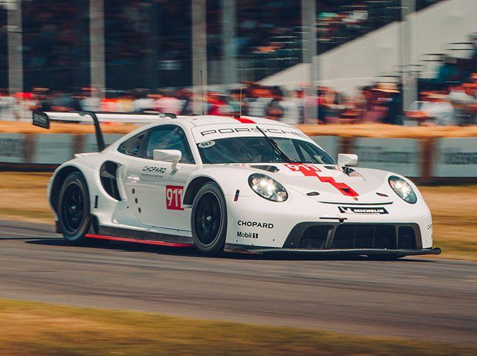 Porsche debuted a new 911 RSR at the Goodwood Festival of Speed. (Porsche Photo)