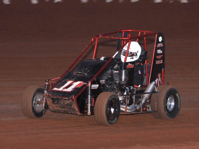Shawn Mahaffey at Red Dirt Raceway. (Richard Bales photo)