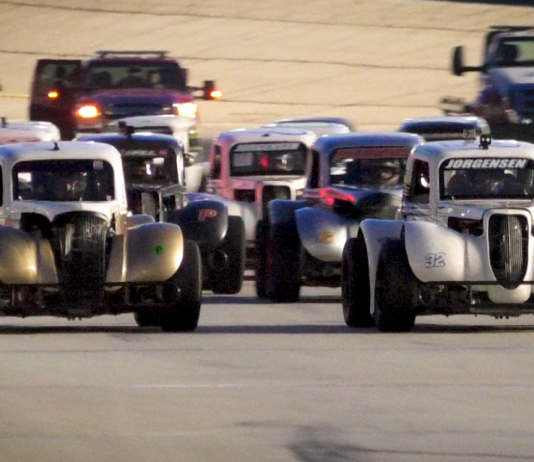 Legend Car action at Thursday Thunder during Atlanta Motor Speedway.