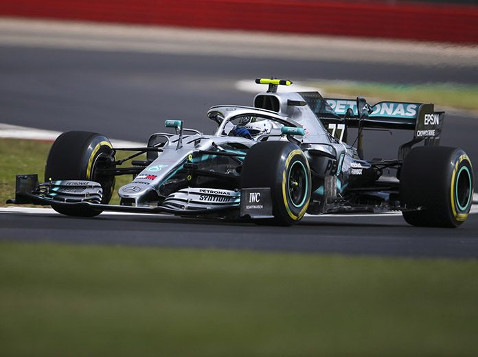 Valtteri Bottas was fastest on day one at the Silverstone Circuit in England. (Mercedes Photo)
