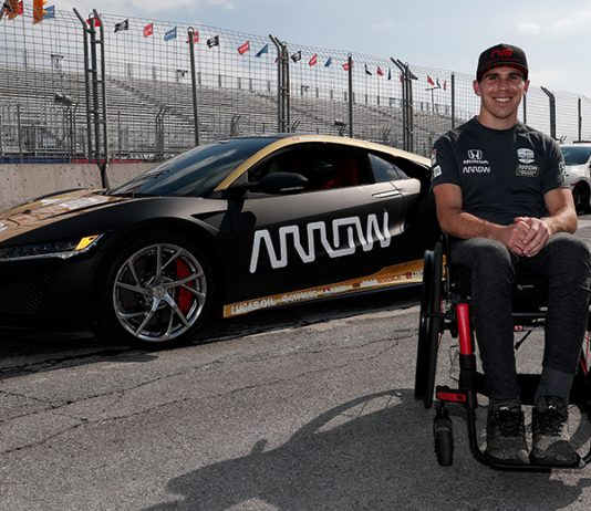 Robert Wickens turned his first laps in a car since being injured in a crash last year at Pocono Raceway. (IndyCar Photo)