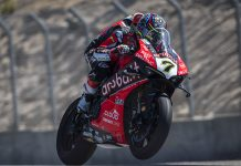 Chaz Davies was fastest in World Superbike practice Friday at WeatherTech Raceway Laguna Seca. (Ducati Photo)