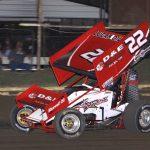 Sean McClelland at Creek County Speedway. (Richard Bales photo)