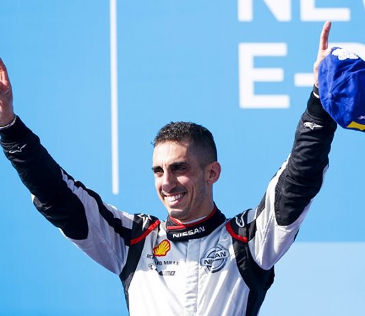 Sebastien Buemi won Saturday's New York E-Prix opener. (Formula E Photo)