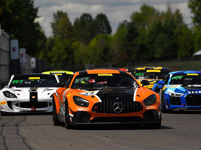 Kenny Murillo and Christian Szymczak drove the No. 34 Murillo Racing Mercedes-AMG GT4 to victory Saturday at Portland Int'l Raceway.
