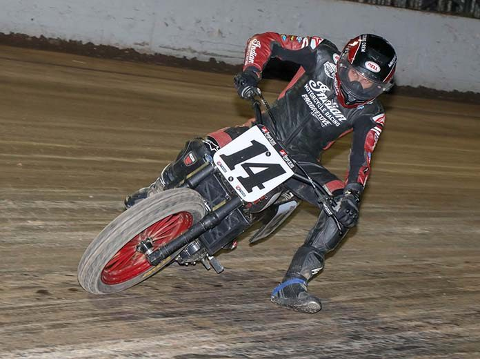 Briar Bauman rebounded with an American Flat Track victory Saturday at Weedsport Speedway. (Scott Hunter Photo)
