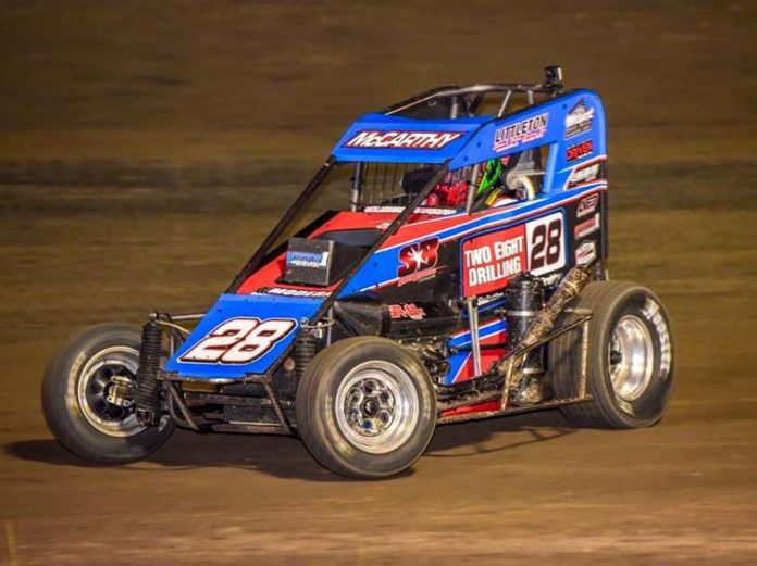 Ace McCarthy earned his first POWRi Lucas Oil National Midget League victory on Saturday at Valley Speedway.