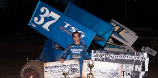 Mitchell Faccinto won the Western Sprint Tour Speedweek title with three victories in five races. (Devin Mayo photo)