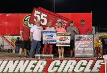 Danny Wood in victory lane at 81 Speedway. (ASCS photo)