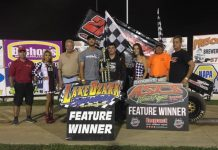 Miles Paulus in victory lane. (ASCS photo)