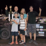 Scott Lenz won Saturday's Southern Oregon Speedway Calculated Comfort Outlaw Pro Stocks feature at Southern Oregon Speedway.
