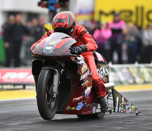 Matt Smith is looking to repeat as the winner of the Mickey Thompson Tire Pro Bike Battle at Sonoma Raceway. (NHRA Photo)