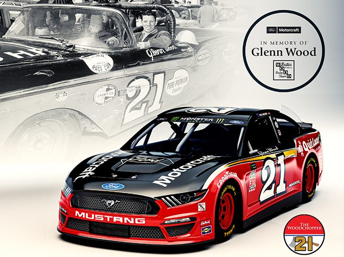 Wood Brothers Racing and Paul Menard will honor the late Glenn Wood during the Southern 500.