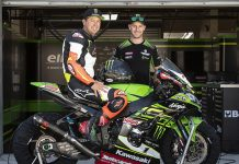 Jeremy McGrath got to try his hand at riding a Kawasaki World Superbike entry earlier this week. (Kawasaki Photo)