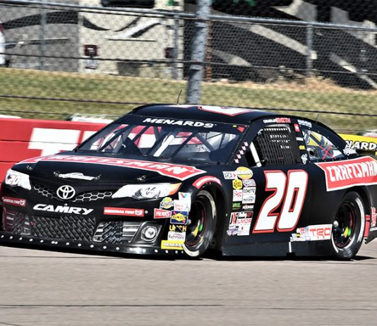 Chandler Smith will lead the ARCA Menards Series field to the green flag on Friday at Iowa Speedway. (Al Steinberg Photo)
