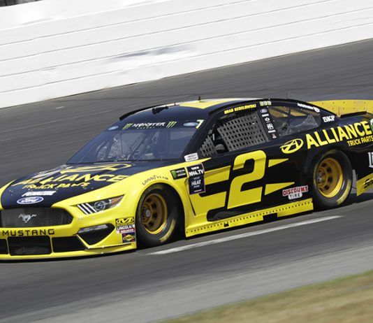 Brad Keselowski earned his first Monster Energy NASCAR Cup Series pole since 2017 on Friday at New Hampshire Motor Speedway. (HHP/Harold Hinson Photo)
