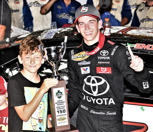 Chandler Smith dominated Friday's ARCA Menards Series race at Iowa Speedway. (Al Steinberg Photo)