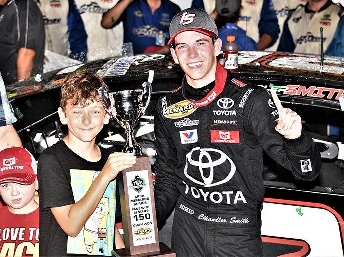 Chandler Smith dominated Friday's ARCA Menards Series race at Iowa Speedway. (Al Steinberg Photo)