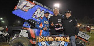 Shane Golobic took top honors on night one of the Howard Kaeding Classic at Ocean Speedway. (Joe Shivak Photo)