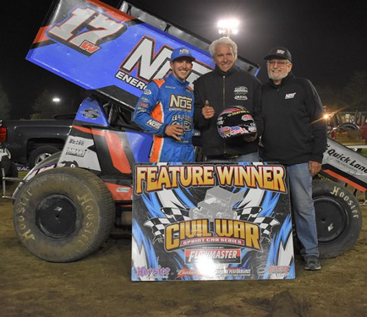 Shane Golobic took top honors on night one of the Howard Kaeding Classic at Ocean Speedway. (Joe Shivak Photo)