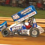 Danny Dietrich en route to victory at Williams Grove Speedway. (Dan Demarco photo)