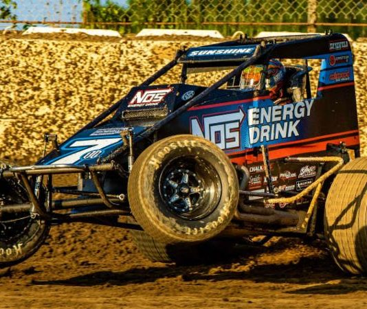 Tyler Courtney at Plymouth Speedway. (Rich Forman photo)