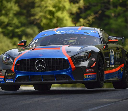 Owen Trinkler and Hugh Plumb gave Team TGM their second-straight victory at Lime Rock Park on Saturday. (IMSA Photo)