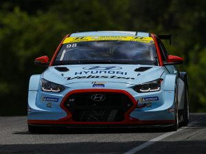 Michael Lewis and Mark Wilkins captured the TCR class victory on Saturday at Lime Rock Park. (IMSA Photo)