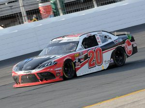 Christopher Bell en route to victory Saturday at New Hampshire Motor Speedway. (Dave Moulthrop Photo)