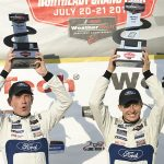 Richard Westbrook (left) and Ryan Briscoe (right) gave the Ford GT and Chip Ganassi Racing their first victory of the season Saturday at Lime Rock Park. (IMSA Photo)