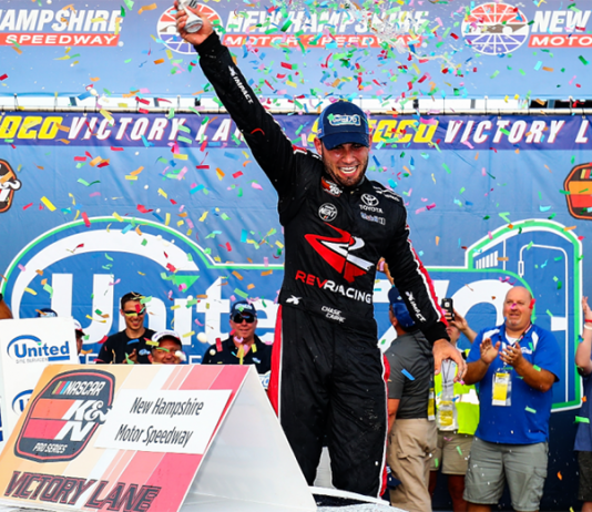 Chase Cabre earned his second-straight NASCAR K&N Pro Series East victory Saturday at New Hampshire Motor Speedway. (NASCAR Photo)