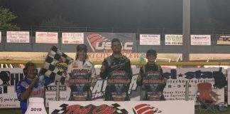 Layden Pearson, Frank Flud and Ryder Laplante were winners Saturday in Lucas Oil National Open Wheel 600 Series action at Port City Raceway.