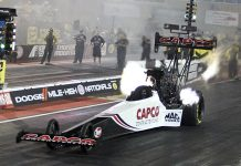 Steve Torrence is the top qualifier in Top Fuel at the Dodge NHRA Mile-High Nationals. (Don Holbrook Photo)