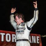 Bobby Pierce in victory lane at I-80 Speedway. (Heath Lawson photo)