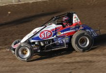 Levi Jones, shown here in 2010, had to best Bryan Clauson to win the 2009 Indiana Sprint Week title. (Gordon Gill Photo)