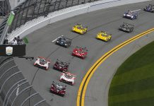 The start of the 57th Rolex 24 at Daytona Int'l Speedway. (IMSA Photo)