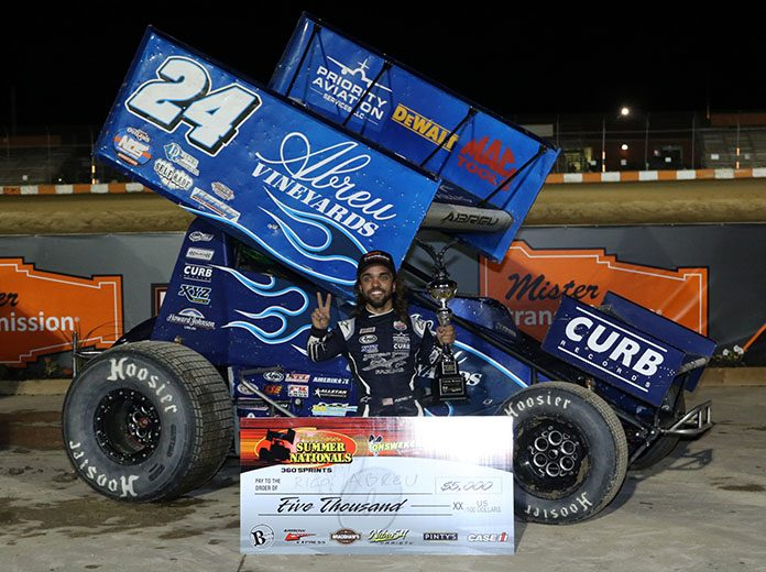 Rico Abreu scored a $5,000 victory during night one of the 2019 Northern Summer Nationals. (Dale Calnan Photo)