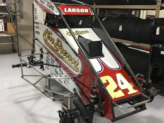The No. 24 Ken Brenn Special livery Kyle Larson will race for Keith Kunz Motorsports/Curb-Agajanian in the first three races of Pennsylvania Midget Week.