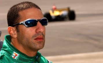 Tony Kanaan, seen here in 2003, won his first Indy car race 20 years ago this week. (IndyCar photo)