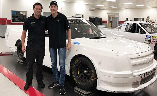 Carson Hocevar (right) will drive for Jordan Anderson (left) during the Eldora Dirt Derby.