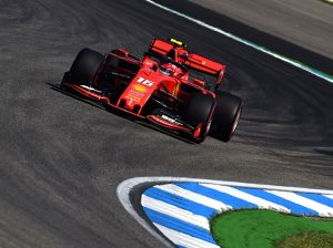 Charles Leclerc was fastest during German Grand Prix practice on Friday. (Ferrari Photo)