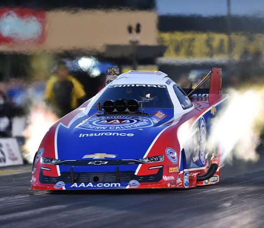 Robert Hight holds the No. 1 spot in the Funny Car class after day one at the NHRA Sonoma Nationals. (NHRA Photo)