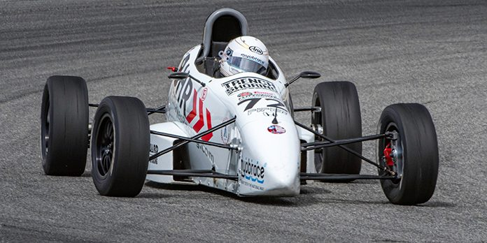 Courtney Crone took the Formula F win Saturday at WeatherTech Raceway Laguna Seca during the Hoosier Super Tour. (Ron Cabral Photo)
