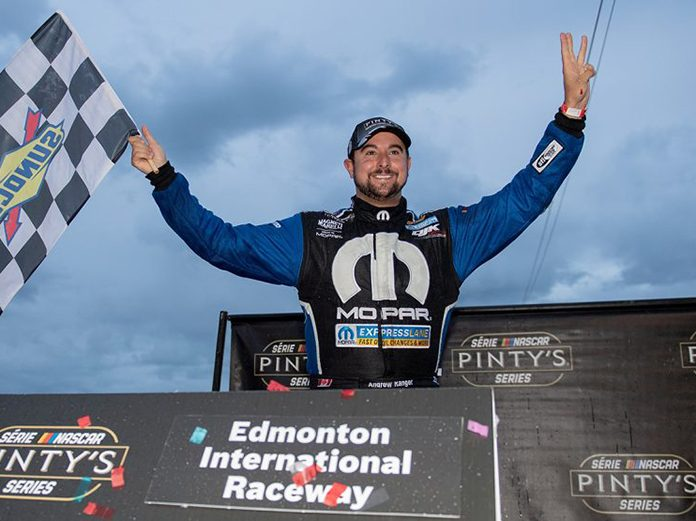 Andrew Ranger topped Saturday's NASCAR Pinty's Series event at Edmonton Int'l Raceway. (NASCAR Photo)